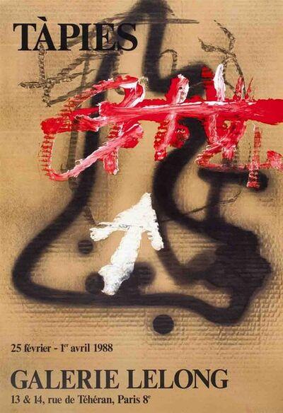 Antoni Tàpies, 'Galerie Lelong', 1988