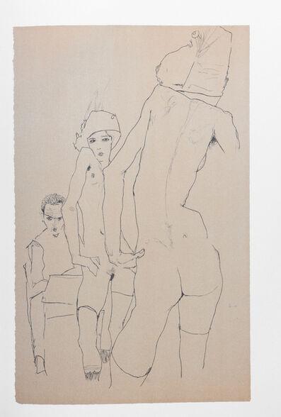 Egon Schiele, 'Schiele Drawing a Nude Model Before a Mirror (1910)', 2007