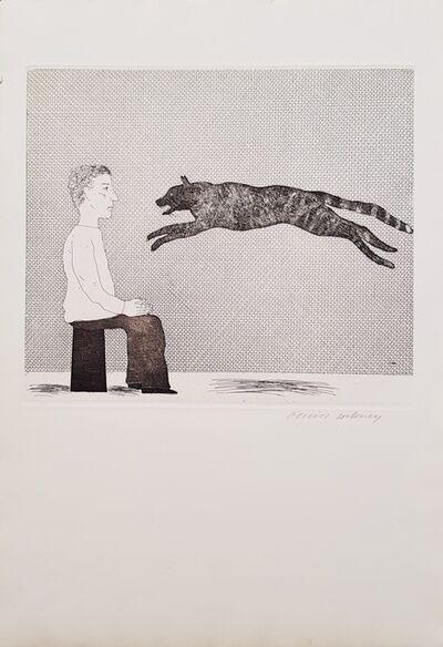 David Hockney, 'A Black Cat Leaping', 1969