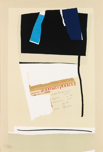Robert Motherwell, 'America--La France Variations VI ', 1984
