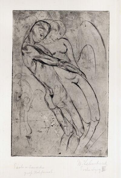 Wilhelm Lehmbruck, 'Paolo und Francesca', 1913