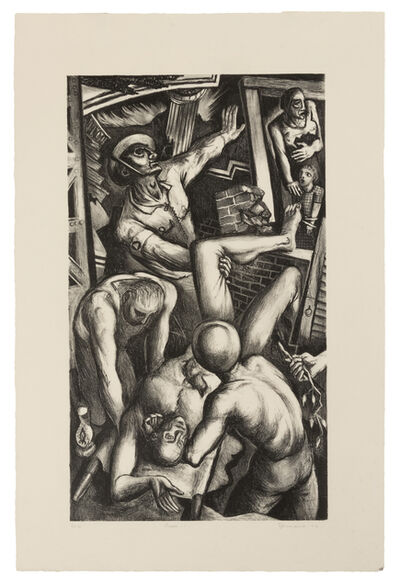 Benton Spruance, 'A pair of prints (Credo 1 - Rescue; Credo 2 - Resurrection)'