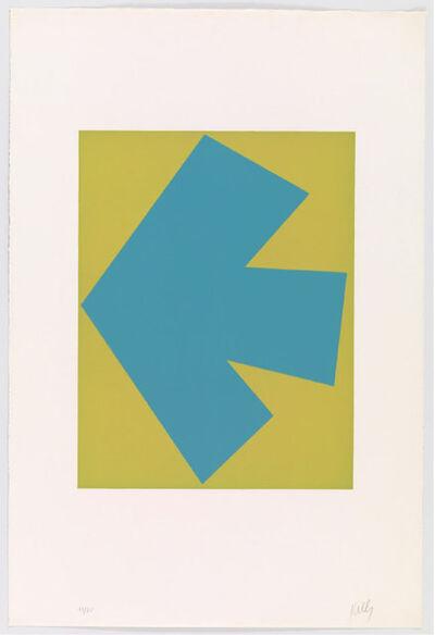 Ellsworth Kelly, 'Blue Over Green (Bleu sur vert)', 1964