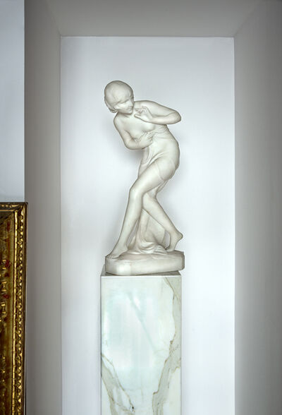 C. Viviani, 'Art Deco Female Nude in Sumptuous White Marble', ca. 1920