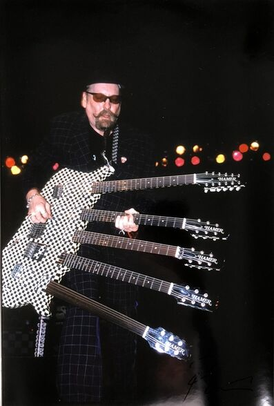 Roberto Rabanne, 'Rick Nielsen from Cheap Trick with 5 Guitar ', ca. Late 1990s Madison Square Garden