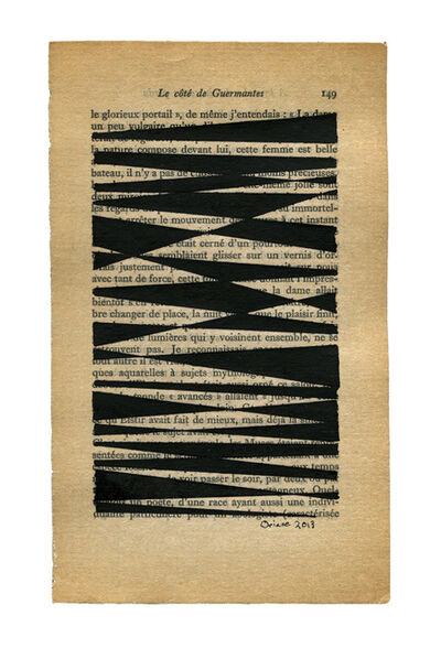 Oriane Stender, 'Untitled book page drawing #3', 2013