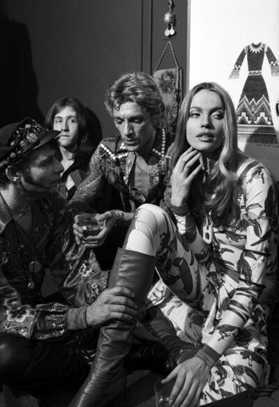 Harry Benson, 'Veruschka, Giorgio Sant'Angelo, and Ara Gallant, New York', 1977