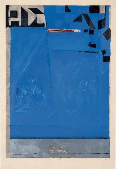 Richard Diebenkorn, 'Blue with Red', 1987
