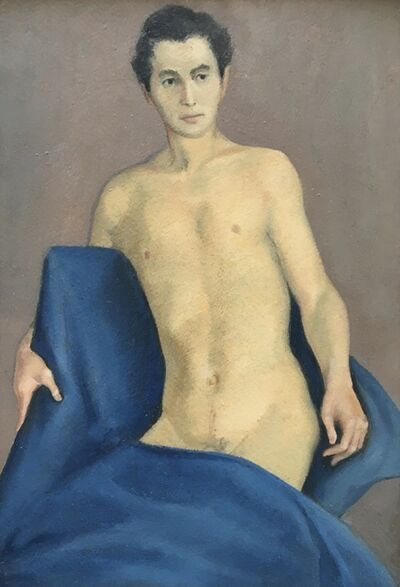 Alvin Ross, 'Self Portrait in Blue Blanket', Mid 20th c.