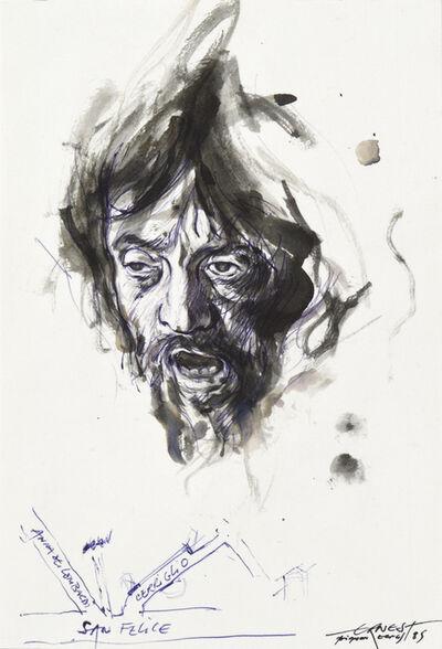 Ernest Pignon-Ernest, 'Etude pour David avec la tête de Goliath de Caravage', 1985