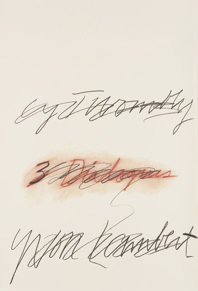 Cy Twombly, 'Three Dialogues', 1977