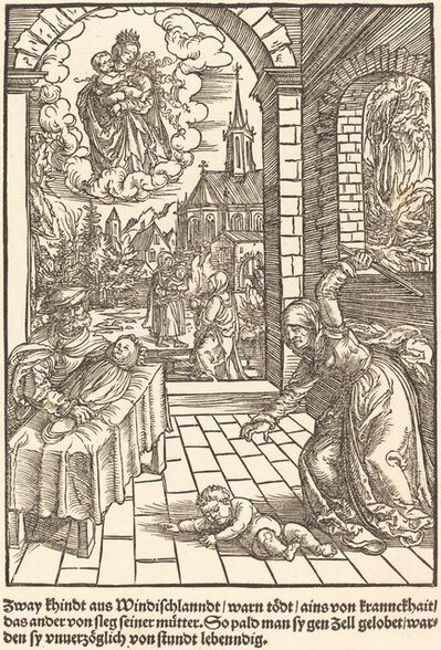 Master of the Miracles of Mariazell, 'Zway khindt aus Windischlanndt ...', ca. 1503