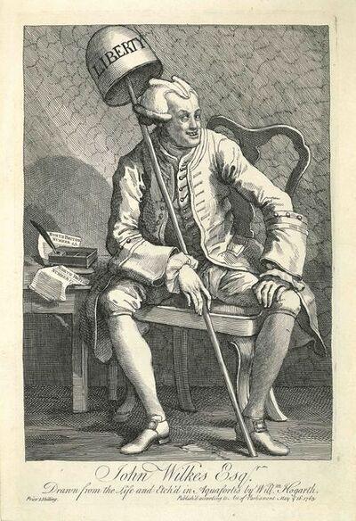 William Hogarth, 'John Wilkes Esqr.', 1763