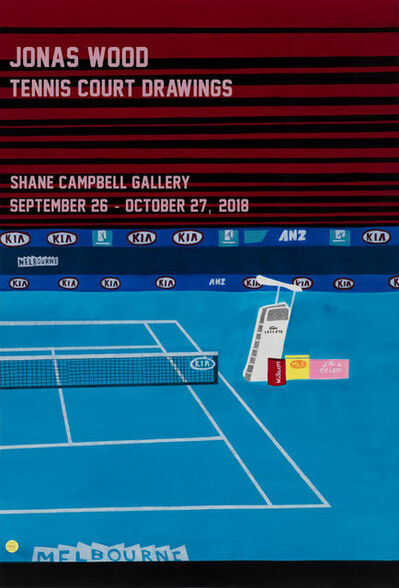 Jonas Wood, 'Tennis Court Drawing Poster', 2018