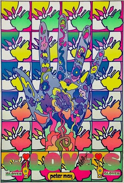 Peter Max, 'Gloves', 1969