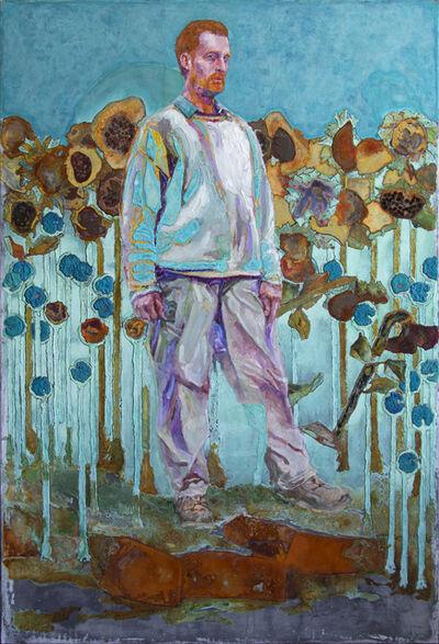 Piet van den Boog, 'Vincent's Walk Through The Sunflower Field', 2020