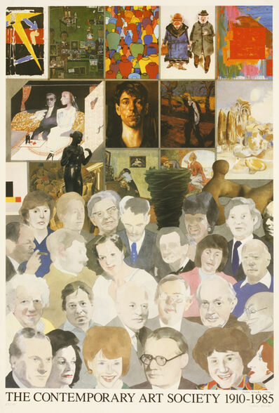 Peter Blake, 'The Contemporary Art Society 1910-1985 Poster', 1985