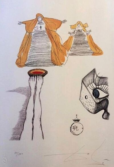 Salvador Dalí, 'Casanova table 10', 1980