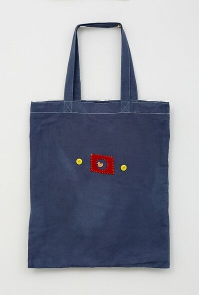 Noel McKenna, 'Blue tote with duck in circle', 2019