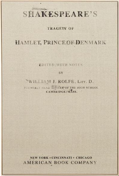João Louro, 'Cover #22 Hamlet, Prince of Denmark, Shakespeare', 2015