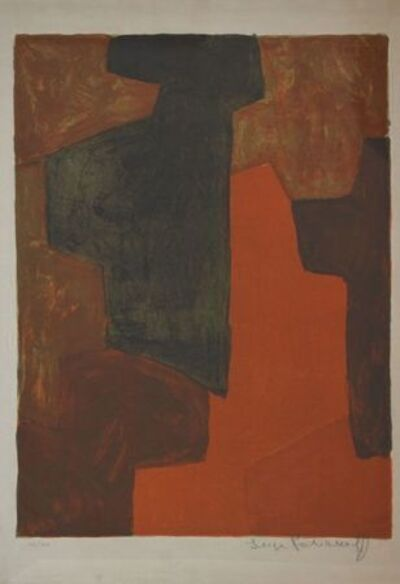 Serge Poliakoff, 'Composition Brown and Green n°43', 1964