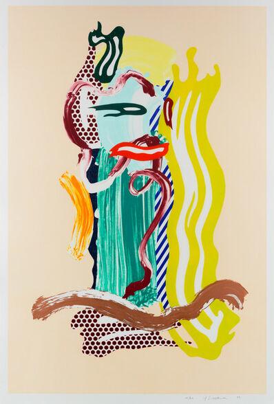 Roy Lichtenstein, 'Portrait, from Brushstroke Figures series', 1989