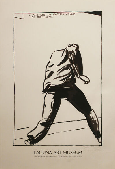 Raymond Pettibon, 'Untitled (I thought California)', 1989