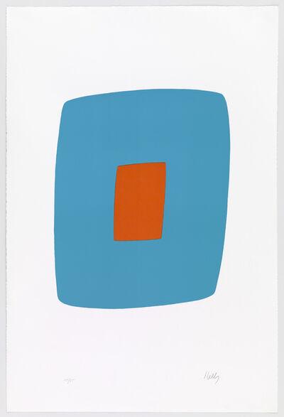 Ellsworth Kelly, 'Light Blue with Orange', 1964-65