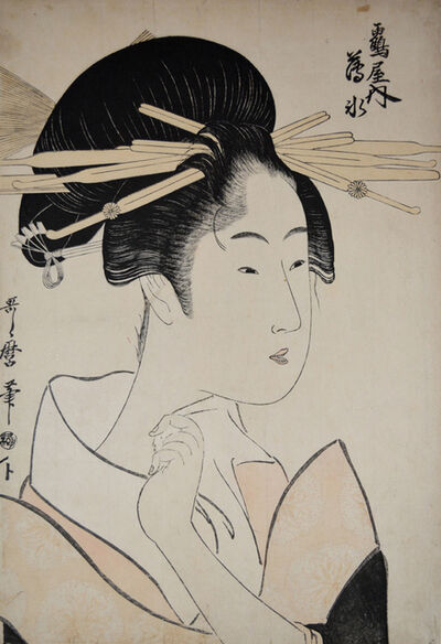 Kitagawa Utamaro, 'Courtesan Usumizu from the Tsuruya', ca. 1789