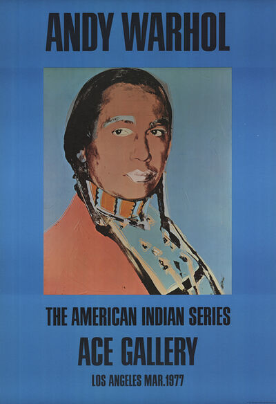 Andy Warhol, 'American Indian (Blue)', 1977