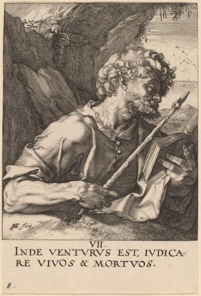 Hendrik Goltzius, 'Saint Thomas', probably 1589