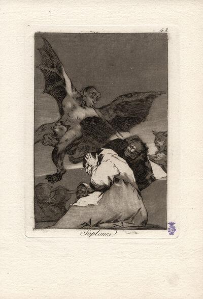 Francisco de Goya, 'Soplones. (Tale-bearers - Blasts of wind.)', 1796-1797