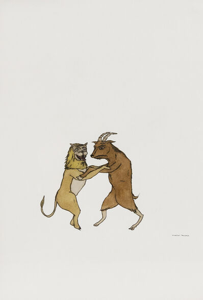Marcel Dzama, 'Untitled (Lion and goat)', 2001