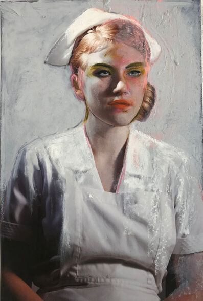 Mercedes Helnwein, 'Nurse With Make-up', 2019