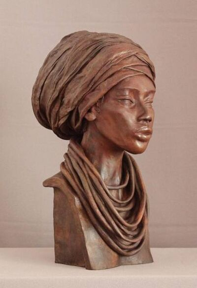 Brijite Bey, 'Femme Foulard', 2012