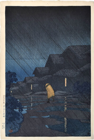 Kawase Hasui, 'Souvenirs of Travel, Second Series: Evening Shower at Teradomari', 1921