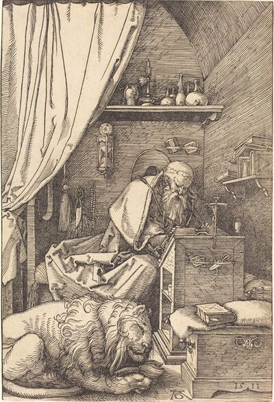 Albrecht Dürer, 'Saint Jerome in His Cell', 1511
