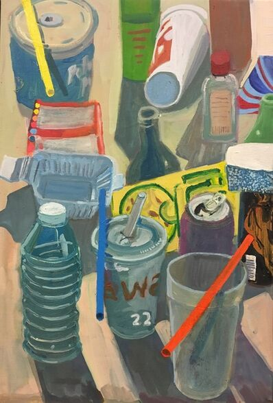 Ezra Johnson, 'Four Straws and Objects', 2018