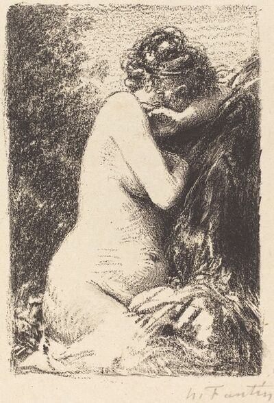Henri Fantin-Latour, 'Weeper: Study of a Nude Woman, Seated with Profile to Right', 1899