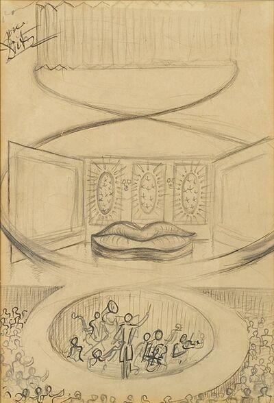 Salvador Dalí, 'Théâtre et scène Saliva Sofa', 1937