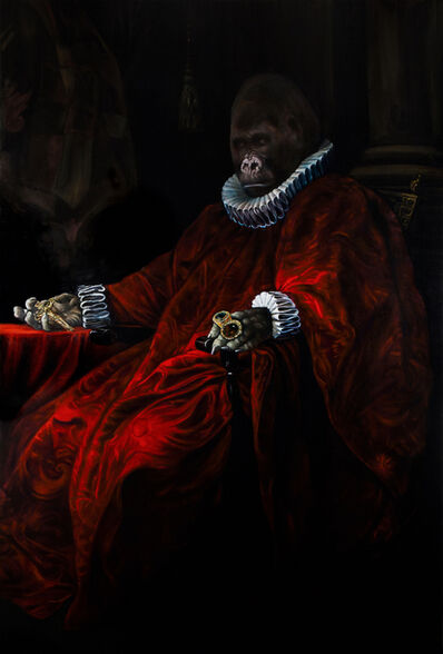 Anastasia Belous, 'Red Cardinal William (Gorillas)', 2018