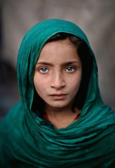 Steve McCurry, 'Afghan Girl with Green Shawl, Pakistan, 2002', 2002
