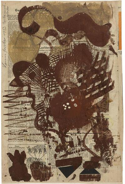 Hermann Glöckner, 'Schwünge, Gitterwerk und Profil in Braun', 1953