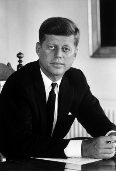 Alfred Eisenstaedt, 'Senator John F. Kennedy in His Office After Being Nominated at Democratic Convention, August', 1960