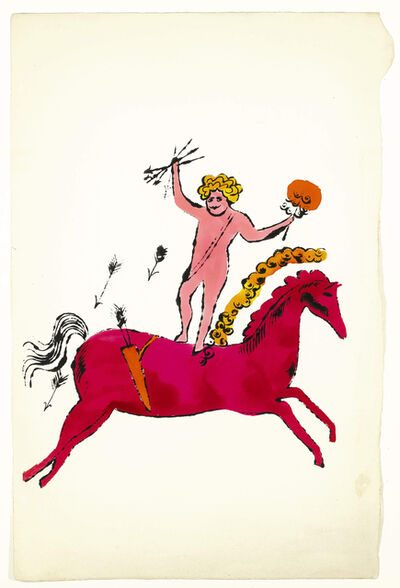 Andy Warhol, 'Angel and Horse, (SEE F. & S. IV.91A) ', ca. 1950