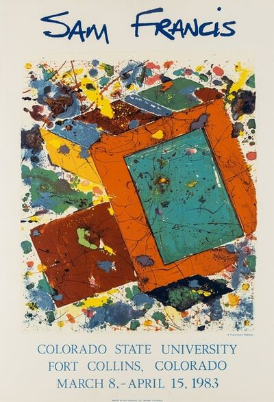 After Sam Francis, 'A poster for the Colorado State University', 1983