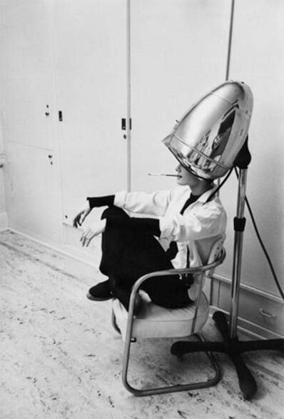 Mark Shaw, 'Audrey Hepburn Under the Hair Dryer', 1953