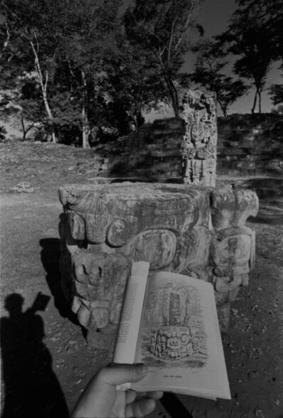 Leandro Katz, 'Copán—Idol D and Altar, with shadow', 1988