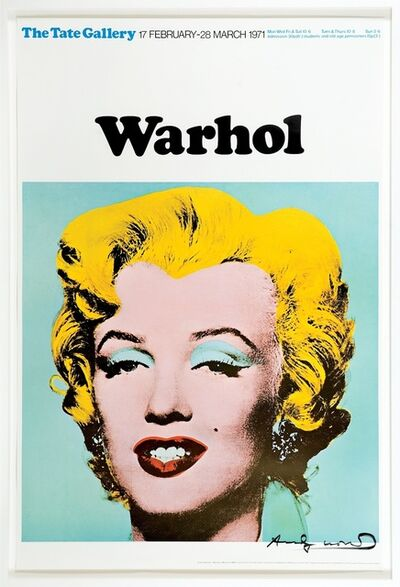 Andy Warhol, 'Marilyn (Tate Gallery, London, 1971) - Signed Poster', 1971