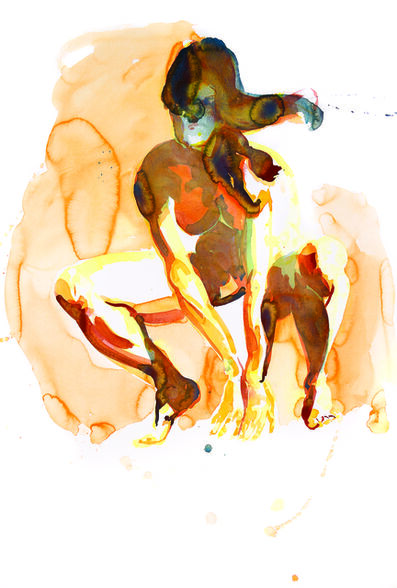 Eric Fischl, 'Crouching Woman, New Works on Paper and in Glass (Print Portfolio)', 2012